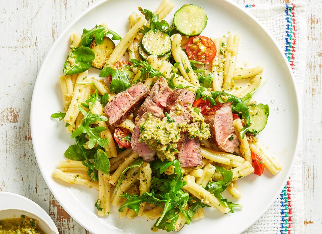 Lamb & Zucchini Casarecce With Olive Tapenade