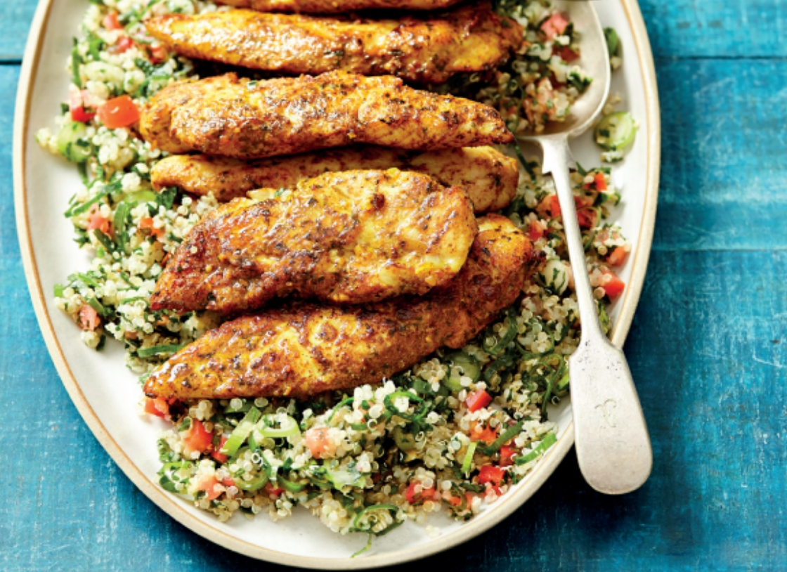 Middle Eastern Chicken with Quinoa Tabouli