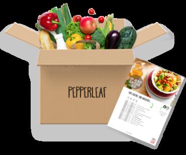 Pepper Leaf Meal Kit Vegetarian Box