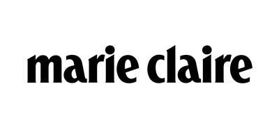 Black logo of Marie Claire