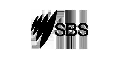 Black logo of SBS