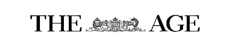 Black logo of the The Age